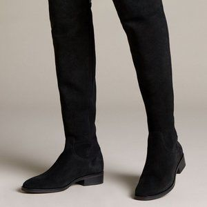 Clarks Boots Pure Caddy Suede Knee High Black 6.5